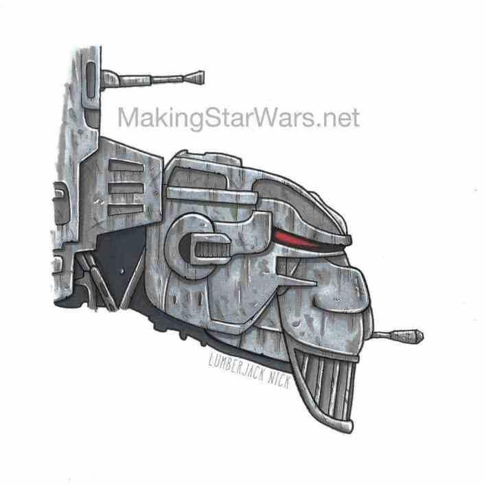 Star Wars: The Last Jedi's First Order Heavy Assault Walker is one mad gorilla