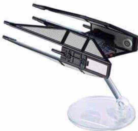 Kylo Ren's starfighter from Star Wars: The Last Jedi