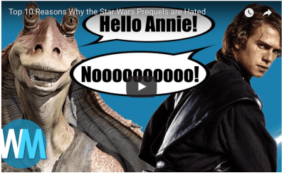 Star Wars fans are massively downvoting anti-prequel trilogy video on YouTube
