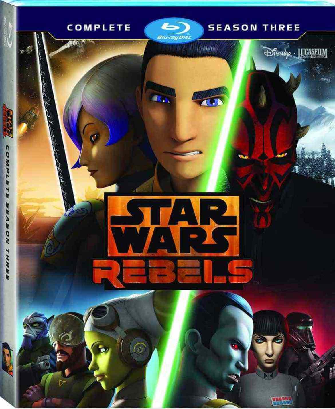 Star Wars Rebels  Complete Season Three Home Video ReleasePrintBeauty Shots6.75 Blu rayWorldwideRAP - Press Release: Star Wars Rebels: Complete Season Three Blu-ray!