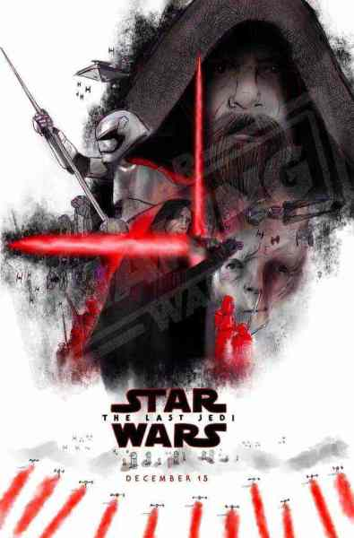 Our sketch of two Star Wars: The Last Jedi theatrical posters that may come this October!