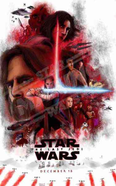 Hero Poster Concept - Our sketch of two Star Wars: The Last Jedi theatrical posters that may come this October!