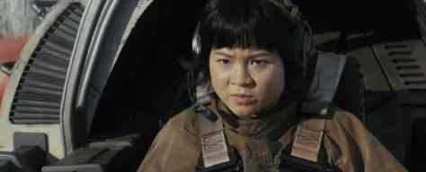 New shot of Rose Tico in a Resistance ski speeder from Star Wars: The Last Jedi!