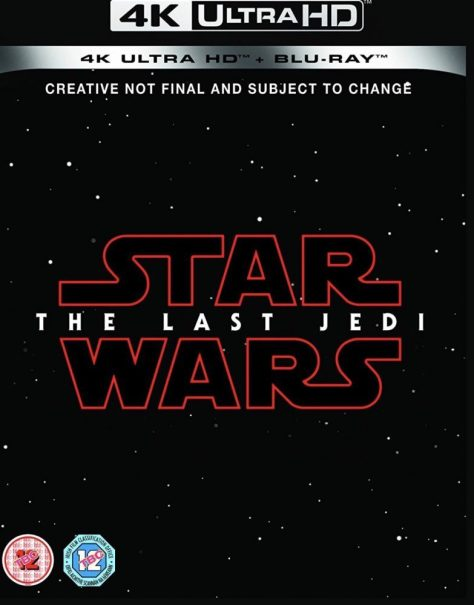 Star Wars: The Last Jedi 4K Blu-ray to be released March 27th?