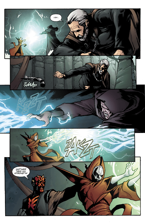 Mother Talzin vs. Count Dooku and Darth Sidious