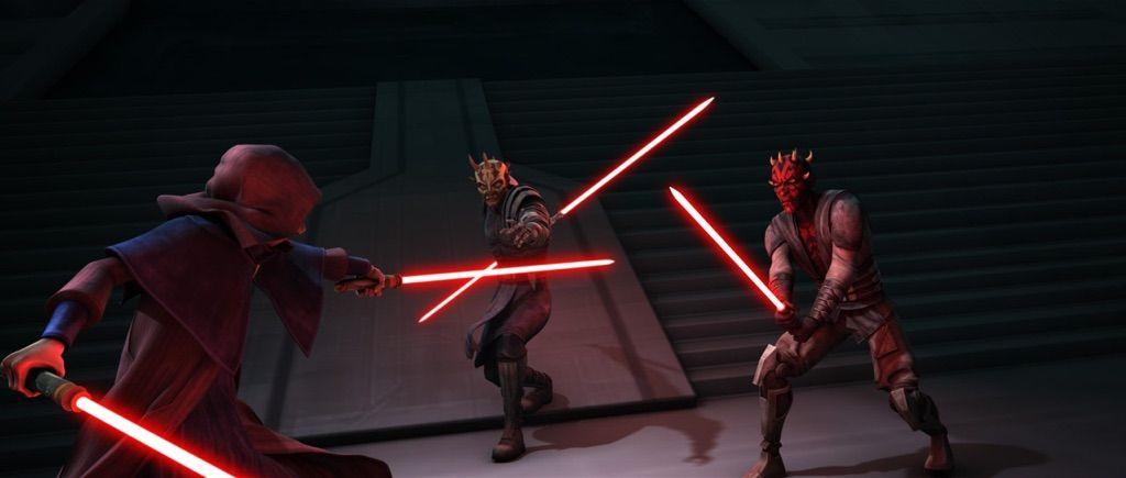 Maul and Savage Opress vs. Darth Sidious