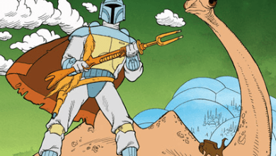 Photo of Star Wars: The Mandalorian's weapon is the animated Boba Fett Holiday Special riffle brought to live action!