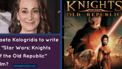 "Photo of Laeta Kalogridis to write a ""Star Wars: Knights of the Old Republic"" film?"
