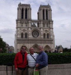 The tri-color - Warren, David, and I with Notre Dame
