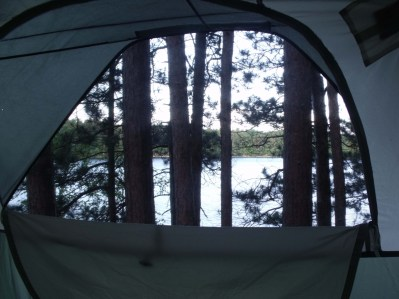 the view from inside my tent