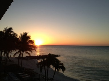 Tuesday morning's sunrise from the second floor of our condo