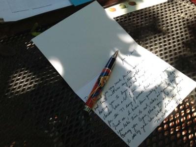 gratitude with my 'Superhero' pen