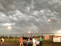 eastward and walking toward the school
