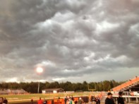 clouds rolling in