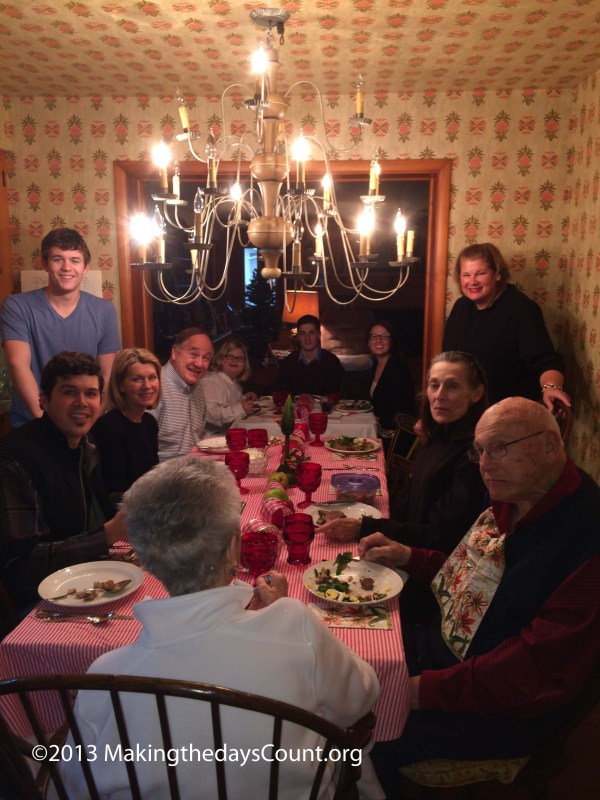 all of us 'cept me are there! Grandma and grandpas dining room