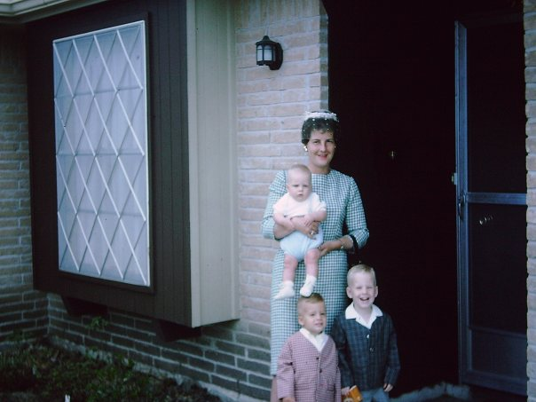 my mom, me (I am the biggest) and my two brothers - Houston - 1965