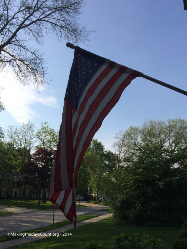 the flag flies outside, it's Memorial Day weekend