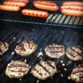 burgers and dogs on the grill (you needed that caption, didn't you?)