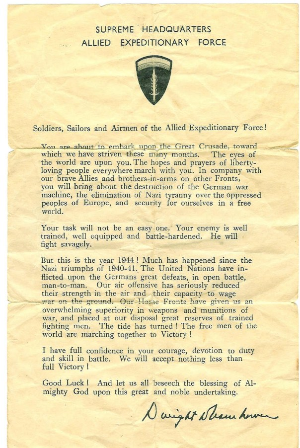 General Eisenhower's order of the day - June 6, 1944