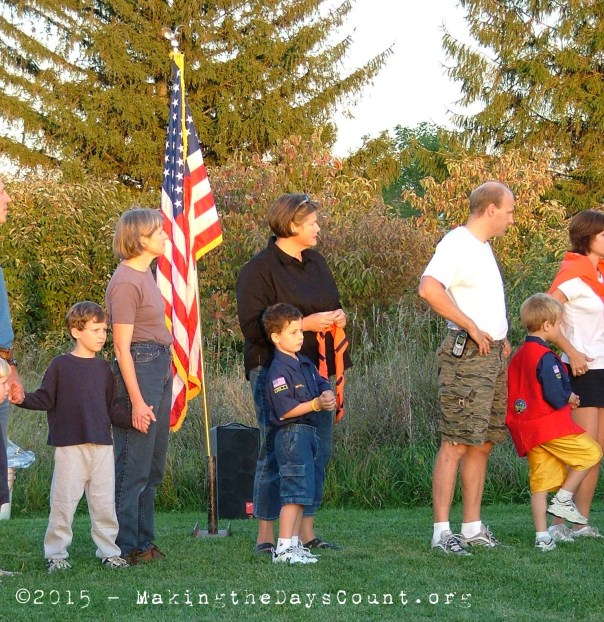 September 2004 - first a Tiger, then a Wolf, then Bear, and on to Webelo as a Cub Scout