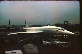 a British Airways Concorde at the gate - July 8, 1975