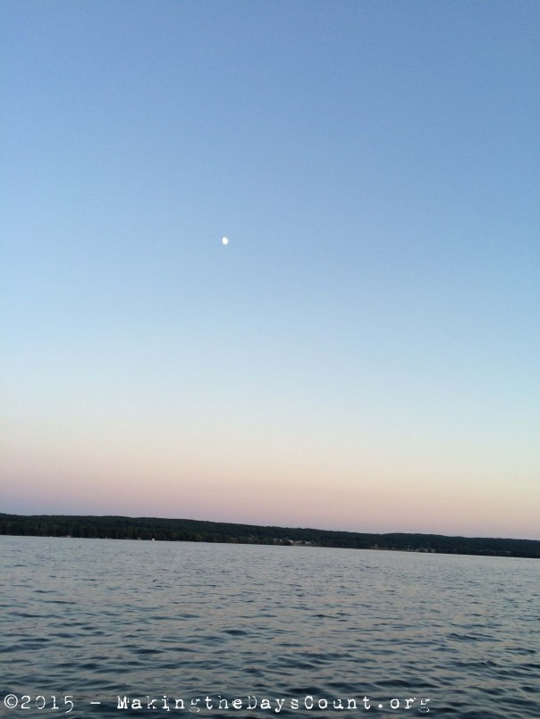 the moon over the Lake Margrethe