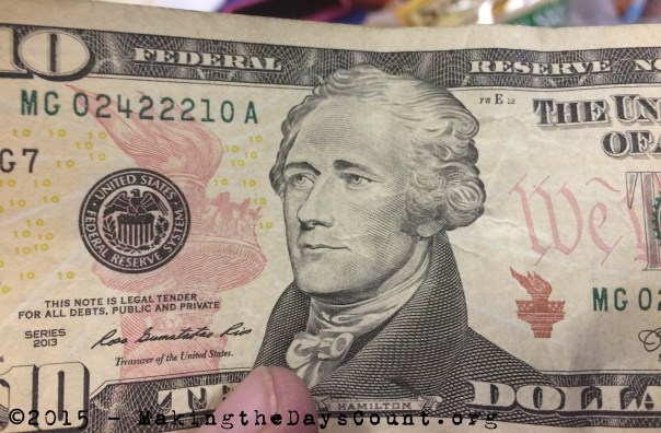 a ten dollar bill.....