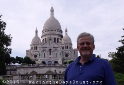 Sacre-Coeur and me - my favorite site in Paris