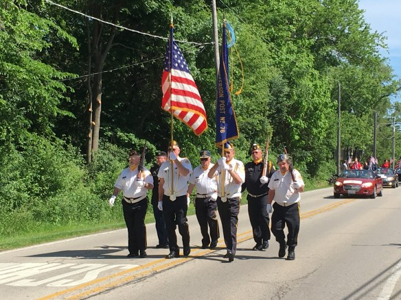 the local VFW post carries the colors