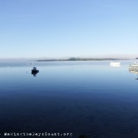 the fog is lifting - the opposite shore