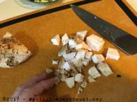 dice your grilled chicken breast