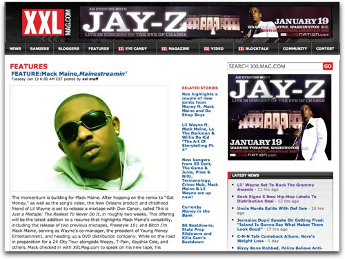 Mack Maine on XXLMag.com