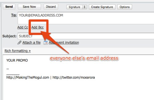 How To Properly Send Mass Email