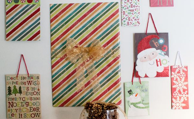 Someday Crafts Gift Bag Gallery Wall