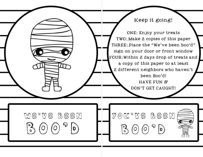 You've Been Boo'd Free Printable with Instructions