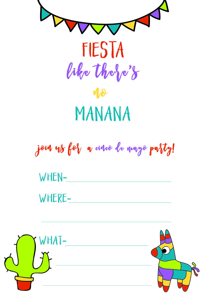 picture regarding Free Printable Fiesta Invitations titled Totally free Printable Fiesta Invites - Anarchistshemale