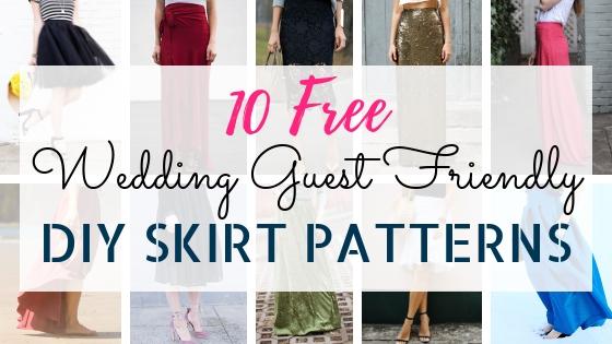 10 Free DIY Skirt Sewing Patterns – Wedding Guest Friendly Skirts!