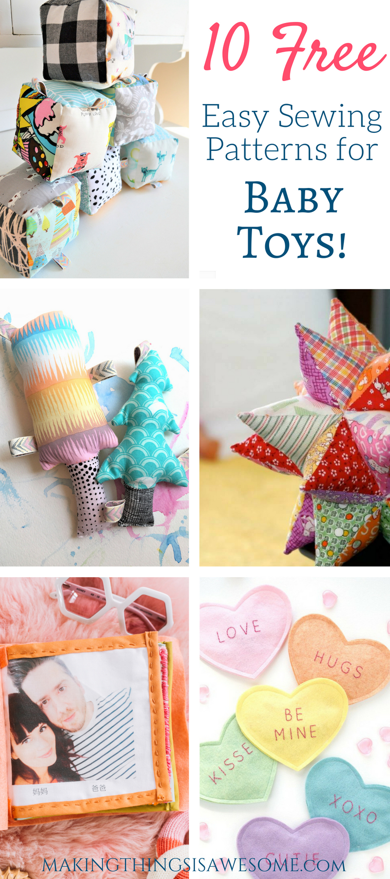 How to Sew DIY Baby Toys : Round-up! - Making Things is Awesome