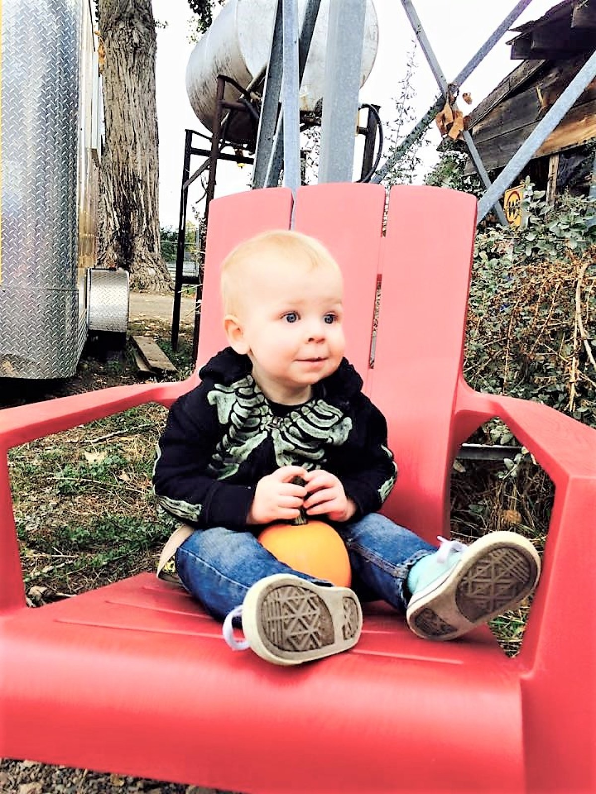 McMillan Farms Pumpkin Adventure! - baby corbin!