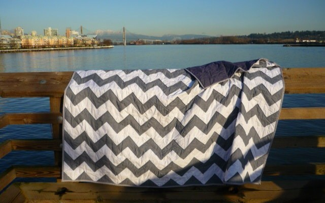 Shawn's Manly Chevron Quilt!