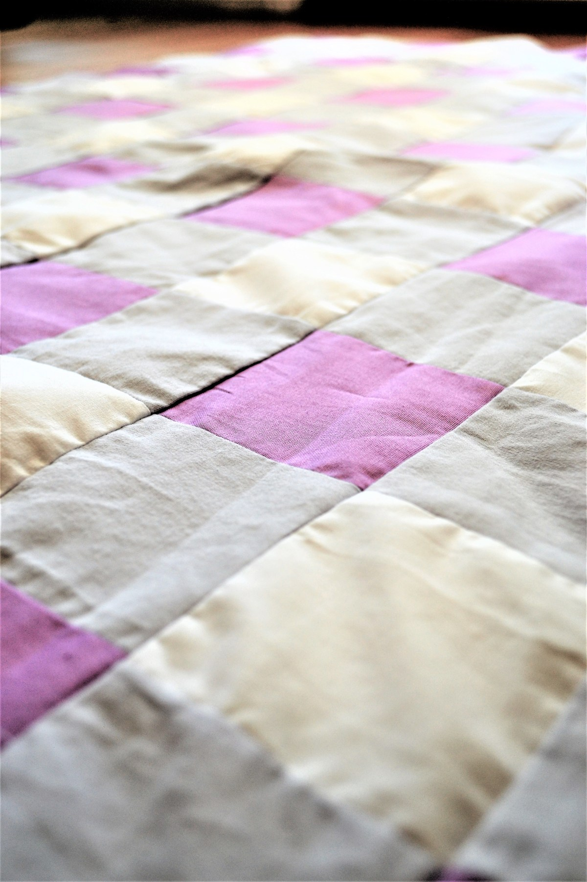 Gingham Baby Quilt Top - Tutorial
