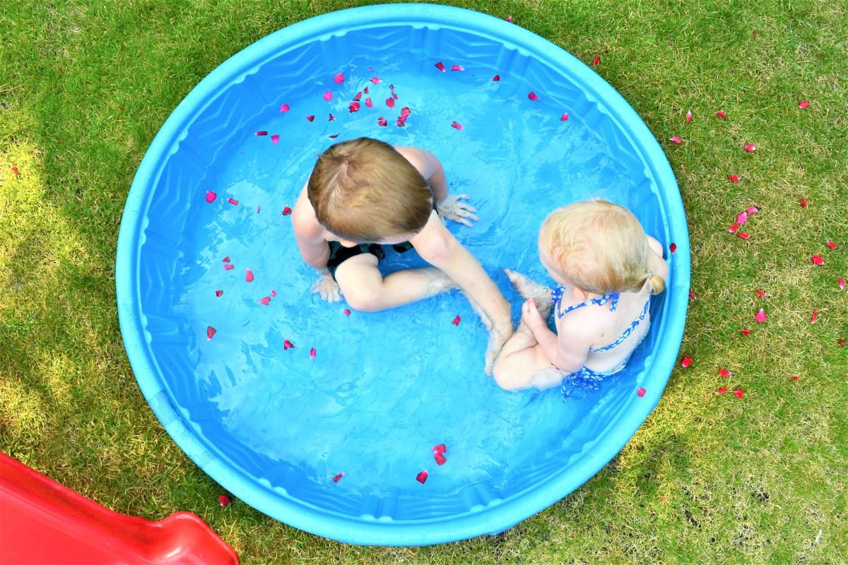 Flower Petal Pool Party! - Kiddie Pool Fun! - Making Things is Awesome
