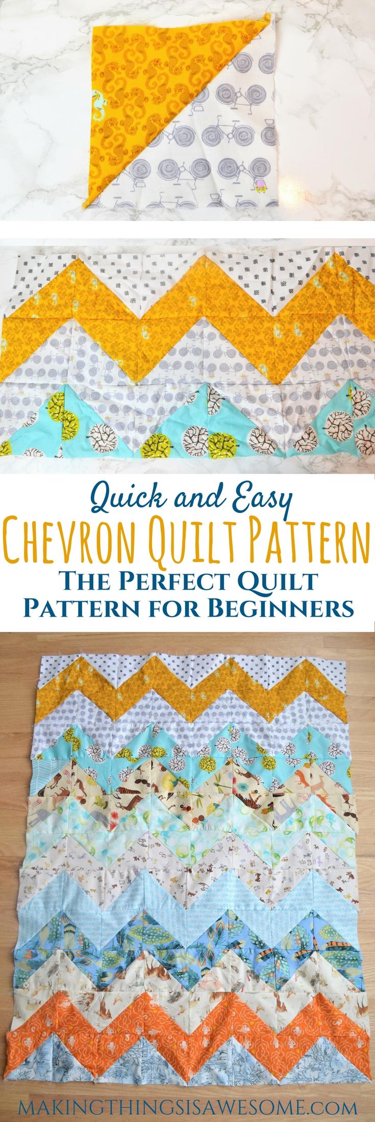 Chevron Quilt Pattern for beginners