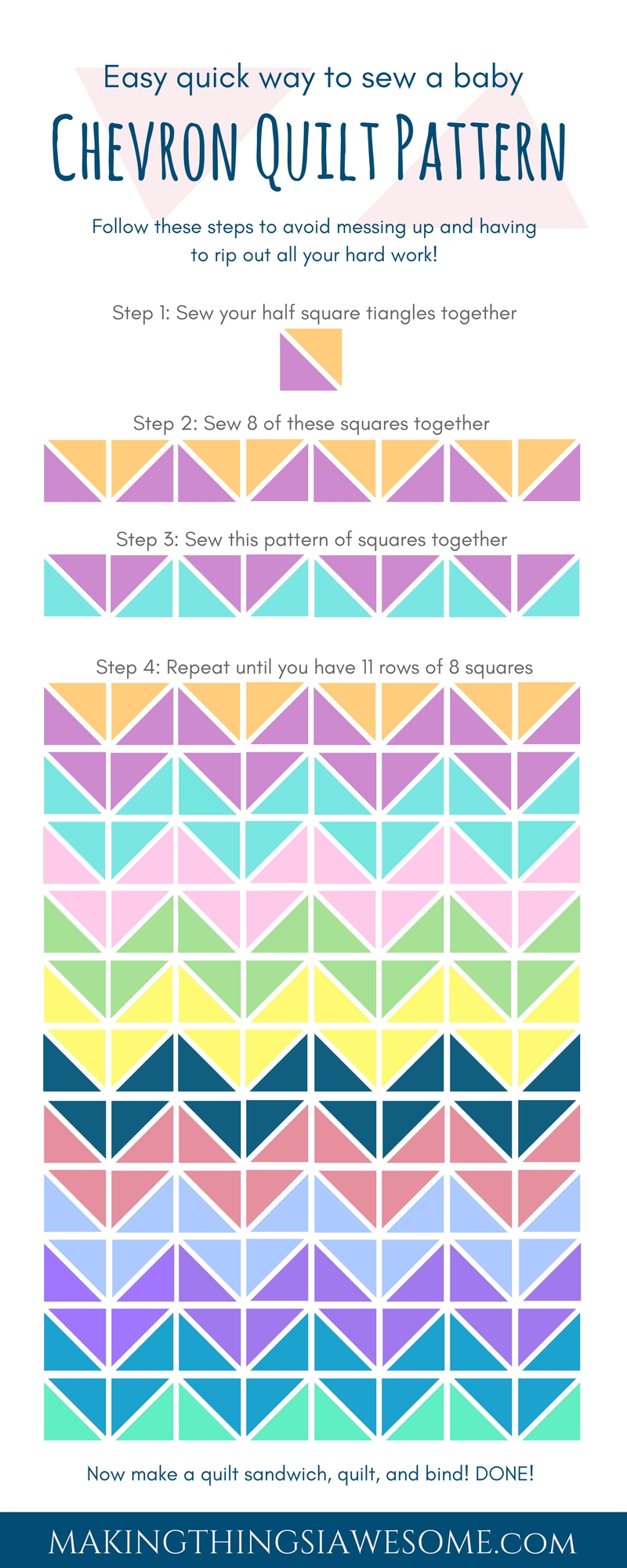 Chevron Quilt Pattern - Quilt Patterns for Beginners! - pattern