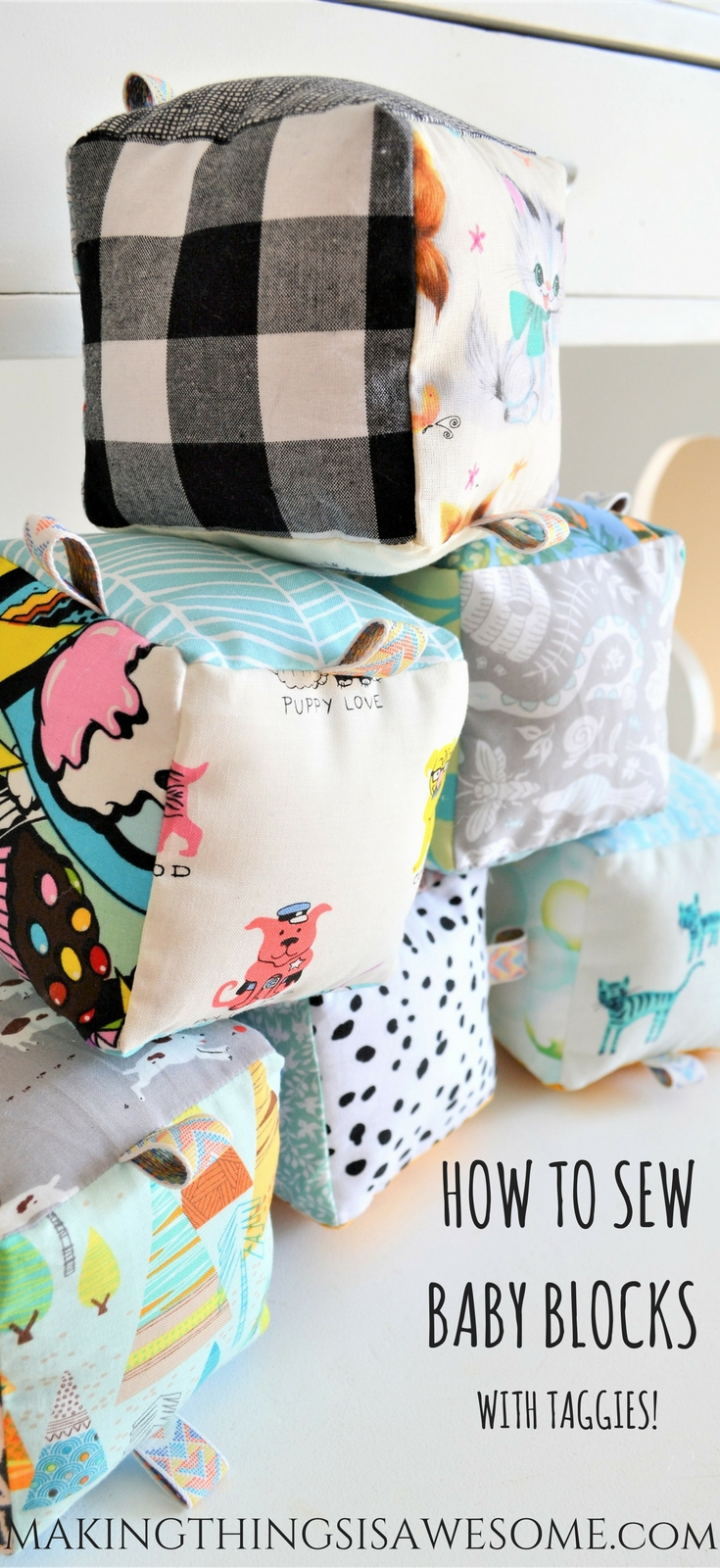 How to Sew Baby Blocks With Taggies