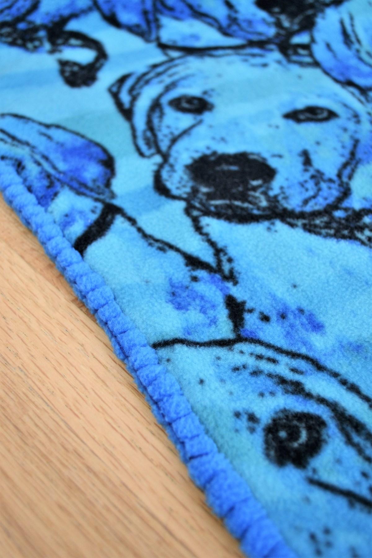 Hand Sewn Fleece Toddler Blanket Tutorial! - The Blanket Stitch! - 1/2 inch stitches