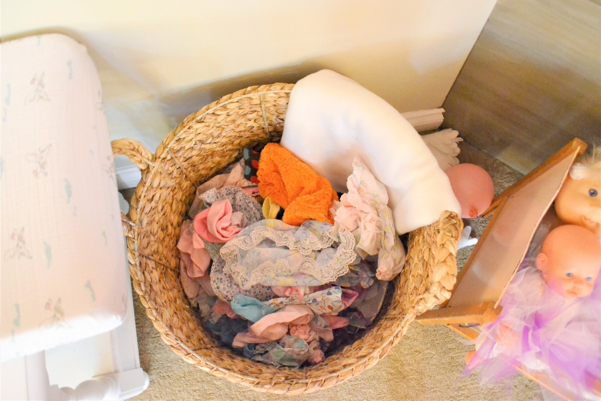 Baby Doll Party Theme - baby doll clothes bin