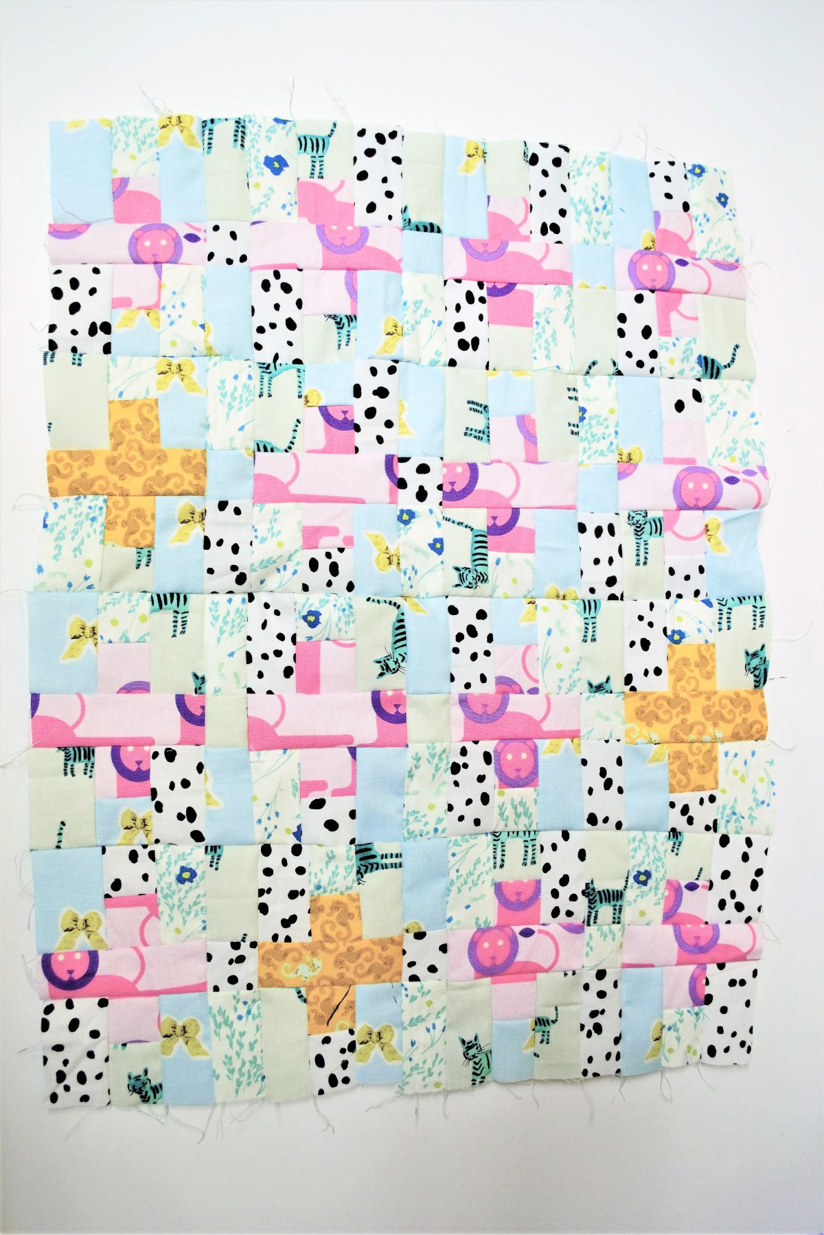 Plus Sign Quilt Top Tutorial