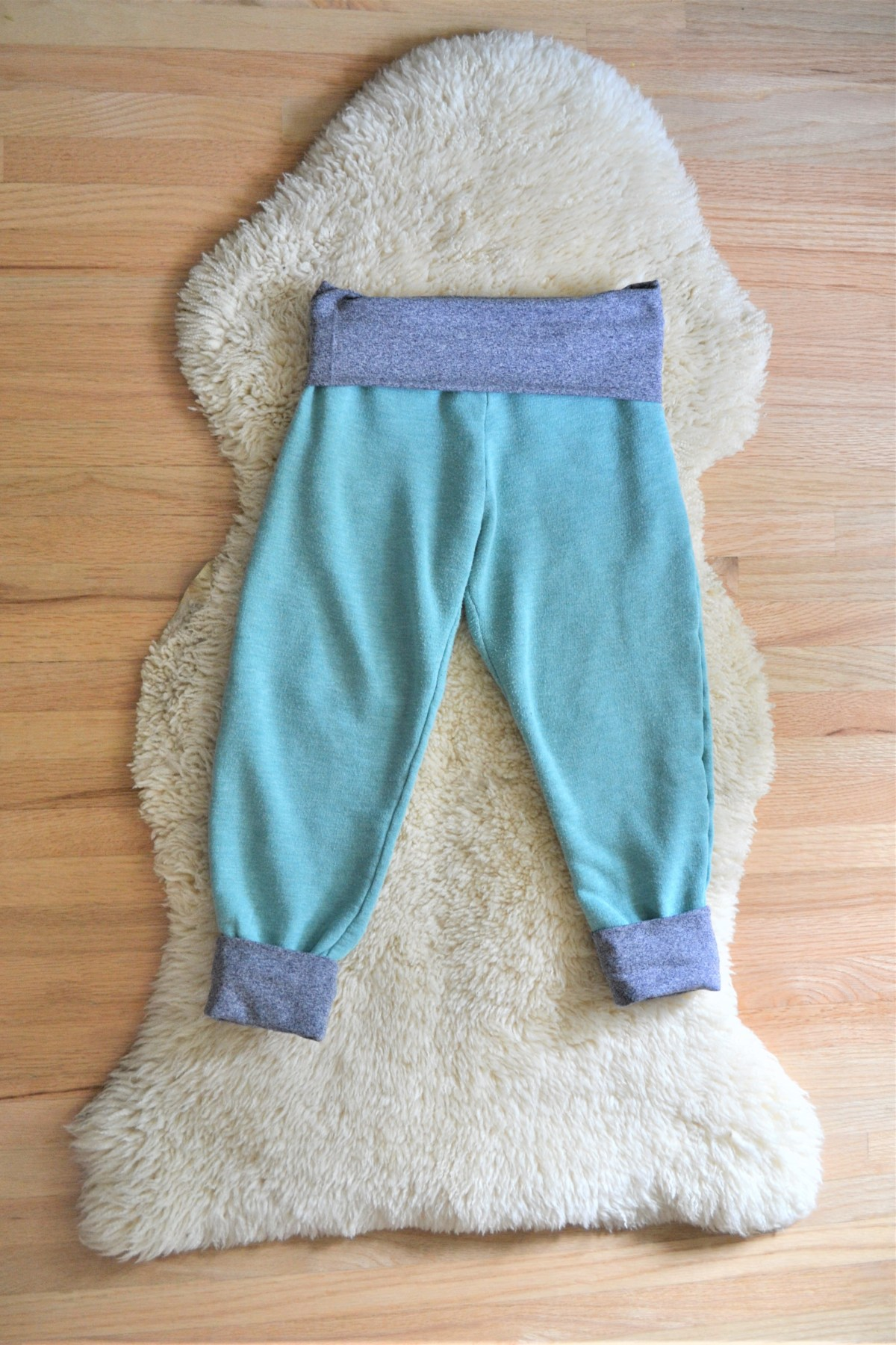 Toddler Boy Grow-With-Me-Pants Tutorial - smallest size