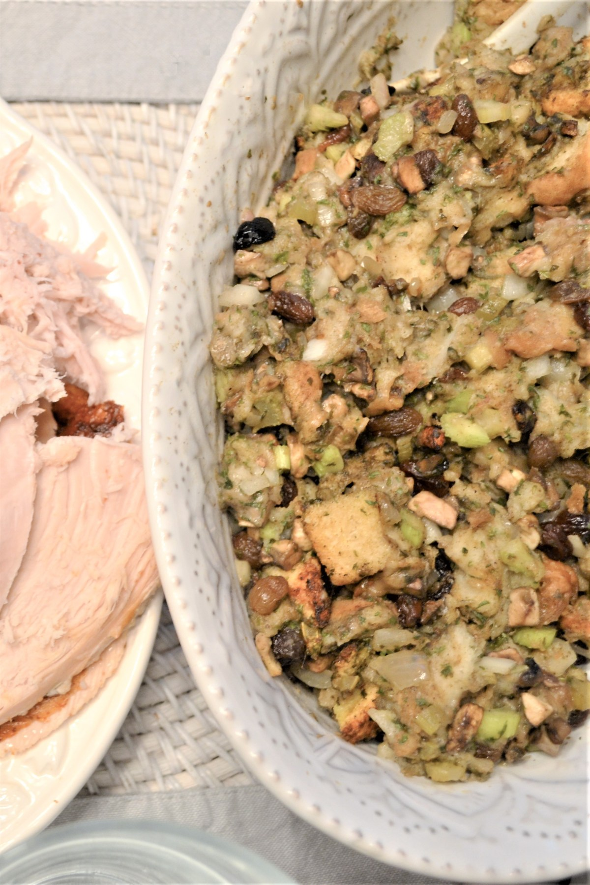 Turkey Stuffing Recipe - on the table